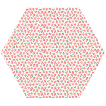 Peach Hex Wall Decal
