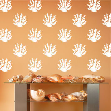 Coral Style A Set of 12 or 24 Vinyl Wall Decals 22573
