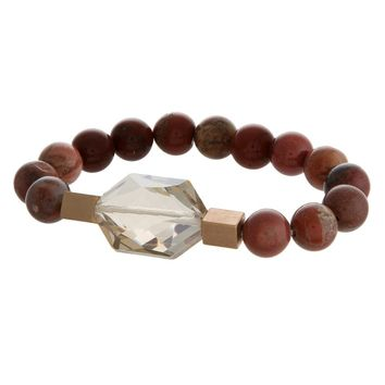 Gemstone Bracelet - Red Jasper