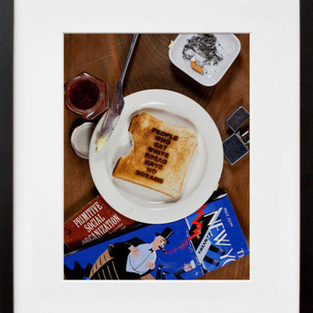 $60.00 20x200 | People Who Eat White Bread Have No Dreams, by Simon Fujiwara