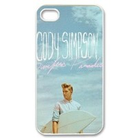 "DiyPhoneCover-Custom The ""Cody Simpson"" Printed Silicon Protective White Case Cover for Apple iPhone 4,4s-DPC-2013-05568"