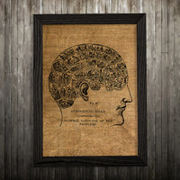 Brain art Biology print Medical print Anatomy poster BLP744