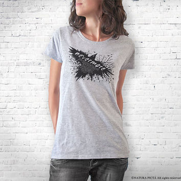 Nevermore The Raven Edgar Allan Poe T-shirt-Halloween T-shirt-women clothing-graphic tees-cool tees-men shirt-gothic tee-NATURAPICTA-NPTS096