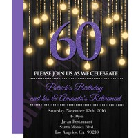 Black And Purple Invitations & Announcements - DIY Party Invitation