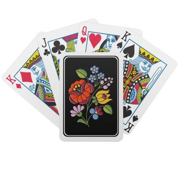 Kalocsa Embroidery - Hungarian Folk Art Poker Deck from Zazzle.com