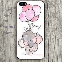 Elephant rabbit balloon iphone 6 6 plus iPhone 5 5S 5C case Samsung S3, S4,S5 case, Ipod touch Silicone Rubber Case Phone cover Waterproof