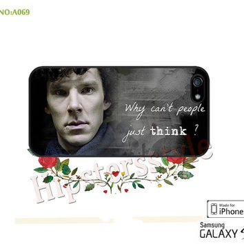 BBC Sherlock Benedict Cumberbatch Phone case iPhone 5/5S/5C Case, iPhone 4/4S Case, S3 S4 S5 Note 2 Note 3 Case for iPhone-A069
