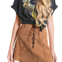 Fashion deerskin flocking A-line skirt
