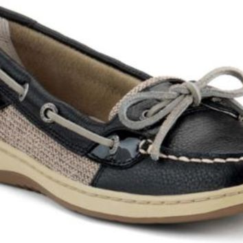 Sperry Top-Sider Angelfish Slip-On Boat Shoe Black, Size 6S  Women's Shoes