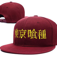 XINMEN Tokyo Ghoul Logo Adjustable Snapback Embroidery Hats Caps - Red