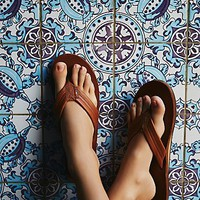 Free People Rainbow Flip Flop