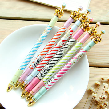 Colourful Stripe Crown Ballpen CP153775