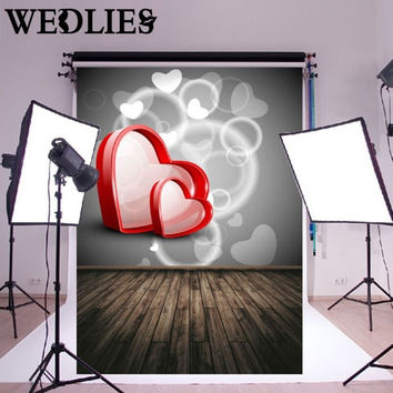 Vinyl Heart Photography Background Cloth Studio Backdrop Photo Booth Props Valentine's Day Wedding Party Events Supplies