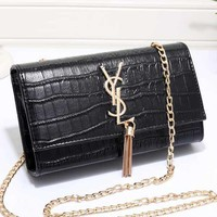 YSL Women Fashion Leather Buckle Shoulder Bag Crossbody Satchel