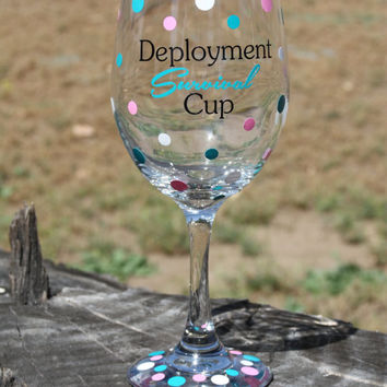 Extra large Deployment Survival Cup- Deployment - Military wives- Survival Kit- Survival Cup