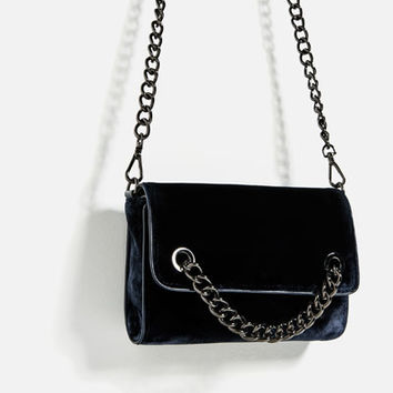 CROSSBODY BAG WITH CHAIN DETAILS