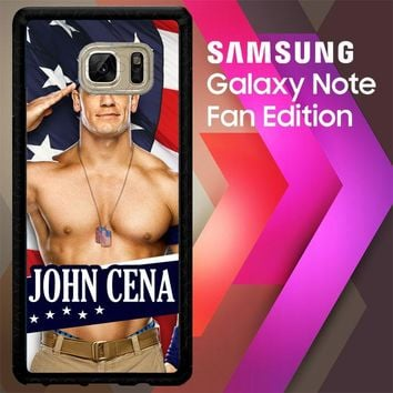 John Cena Flag W3176 Samsung Galaxy Note FE Fan Edition Case