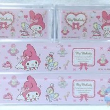 NEW! SANRIO My Melody KAWAII Square Resin Pile Up Stack Case 4 piece Set JAPAN