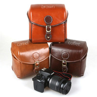 Small Leather DSLR Camera Bag