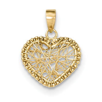 14K Open Wire Heart Pendant K5172