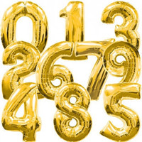 40 Inch Gold/Silver Number 0-9 Wedding Foil Balloons Kids Birthday Party Supplies Baby Shower Decorations Event & Party Supplies