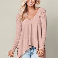 PEACH Hanky hem sweater from VENUS
