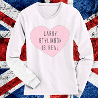 Larry Stylinson Is Real 1D One Direction Shirt! Super cute! Directioners take a look!
