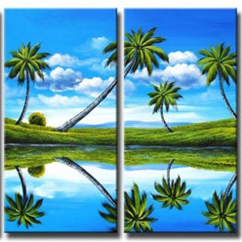 Prehistoric Palms Canvas Wall Art