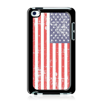 Grunge USA Flag Case for Apple iPod Touch 4