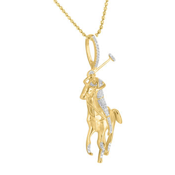 Best gold horse pendant necklace products on wanelo horse polo pendant necklace set 14k gold finish simulated diamon mozeypictures Gallery