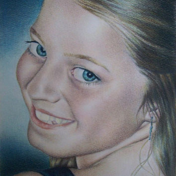 Custom portrait, pencil portrait, photos to drawing, ONE person in color, pencil sketch portrait, pencil portrait, child portrait, portrait