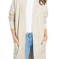 BP. Rib Trim Long Cardigan | Nordstrom