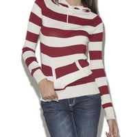 Ruby Stripe Hoodie  | Shop Tops at Wet Seal