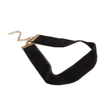 2016 Punk Black Velvet Choker Necklace tattoo choker Necklaces For Women Chocker collares Mujer Women's Jewelry