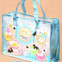 kawaii macaron tea cup plastic glitter bag from Japan - Handbags - Bags - Accessories