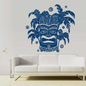 Wall Vinyl Sticker Decals Decor Art Bedroom Design Mural Totem Hawaii Inks Tiki Old Figure Symbol (z2975)