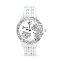 Bling Jewelry Butterfly Glam Watch