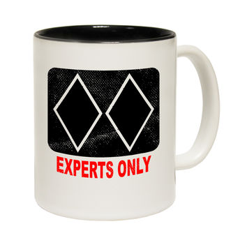 Powder Monkeez Experts Only Skiing Snowboarding Funny Mug