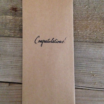 Congratulations hand stamped favor bag