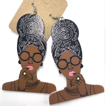 Headwrap Mami earrings (6 colors to choose from) | Natural hair earrings | Afrocentric earrings | jewelry | accessories