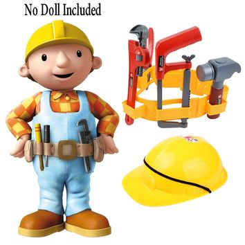 Construction Worker Role Play Dress-Up Set Kids Engineer Tools  Builder  Pretend Play , Construction Toys for Boys Children