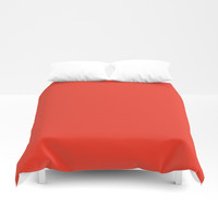 Google Red Duvet Cover by spaceandlines