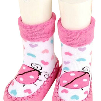 Antiskid Baby Autumn Winter Cartoon Bootie Baby Shoes Toddler Shoes J