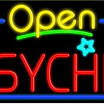 Psychic Open Handcrafted Energy Efficient Glasstube Neon Signs