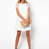 Lace Sleeve Simple Dress