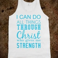 I can do all things through Christ tank top tee t shirt-White Tank