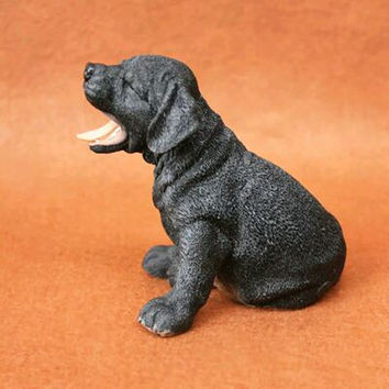 Best work resin Labrador Retriever dog figure,car styling home room decoration,lab lover collection article Christmas gift toy