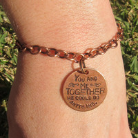 Hand Stamped Custom Bracelet  1 Copper Tag by DesignByAnyOtherName