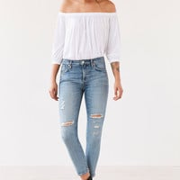AGOLDE Sophie High-Rise Distressed Cropped Skinny Jean - Outsider | Urban Outfitters