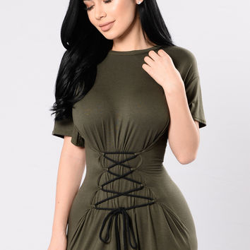 All The Way Up Tunic - Olive